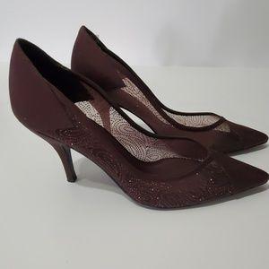 Bandolino - Dressy Brown Satin Pumps - Size 8 1/2